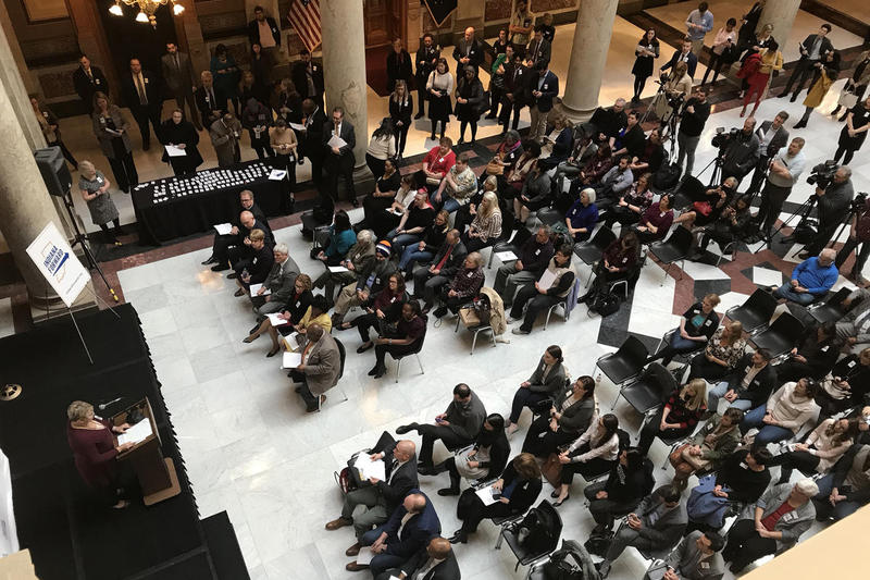 Indiana Forward, a coalition of more than 700 members, will push in the 2019 session for a hate crimes law. (Brandon Smith/IPB News)