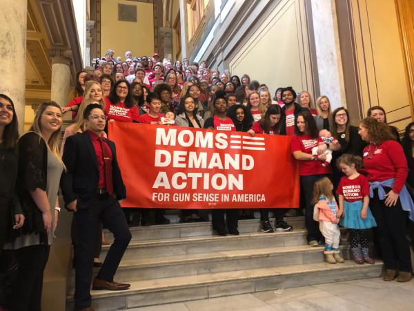 Moms Demand Action Indiana had over 200 volunteers turn out for the annual advocacy day at the statehouse.