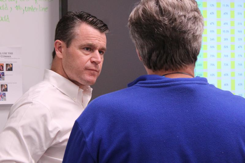 Sen. Todd Young (R-Ind.) won't say whether he'll support President Trump's emergency declaration to build a wall on the southern border with Mexico. (Lauren Chapman/IPB News)