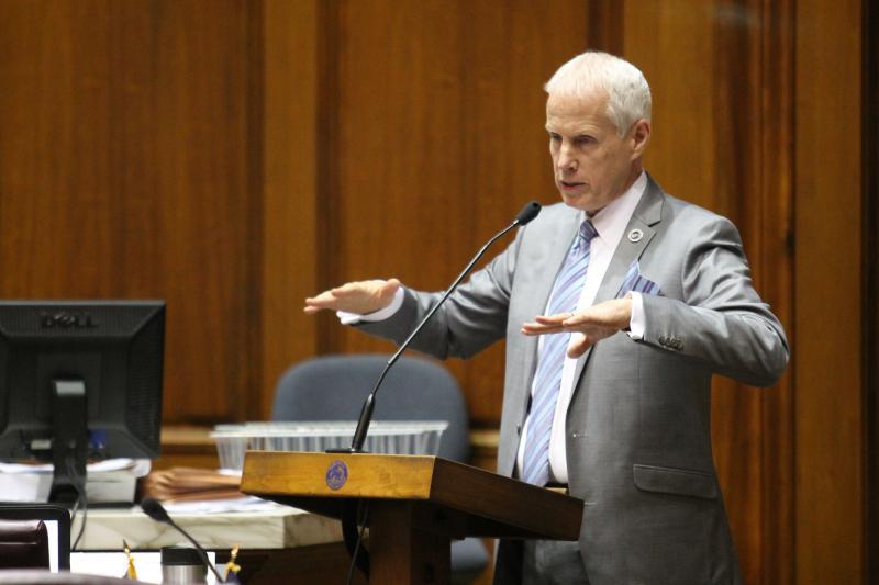 House Education Committee Chair Bob Behning (R-Indianapolis) speaks during a committee meeting. (Lauren Chapman/IPB News)
