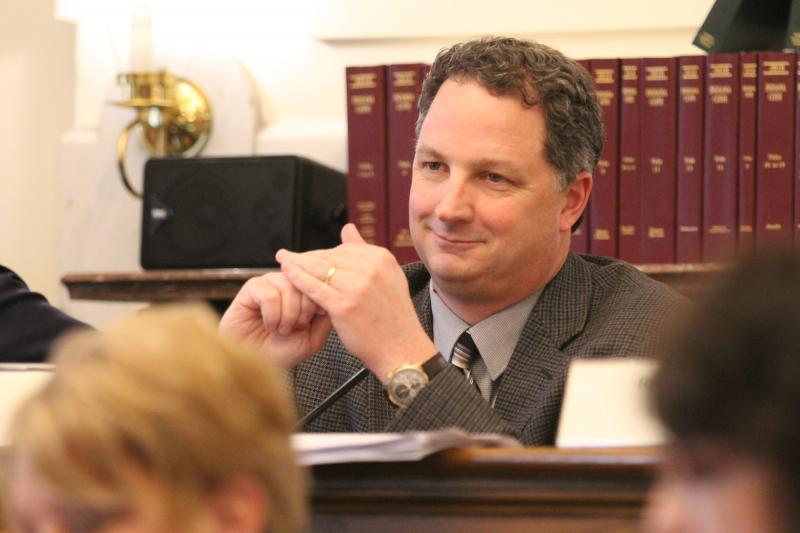 Rep. Todd Huston (R-Fishers) is an architect of the House Republican budget proposal. (Lauren Chapman/IPB News)