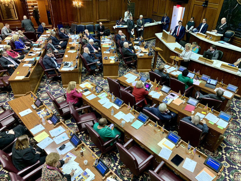 The Indiana House debates a hate crimes bill. (Brandon Smith/IPB News)