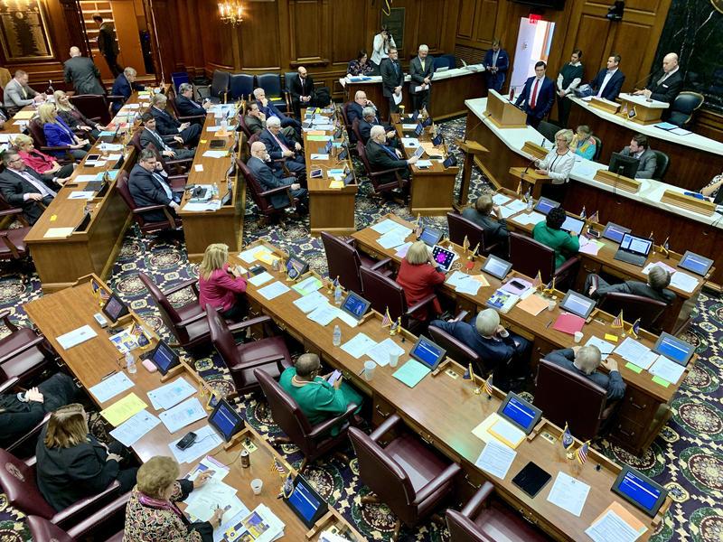 The Indiana House debates a hate crimes bill. (Brandon Smith/IPB News)