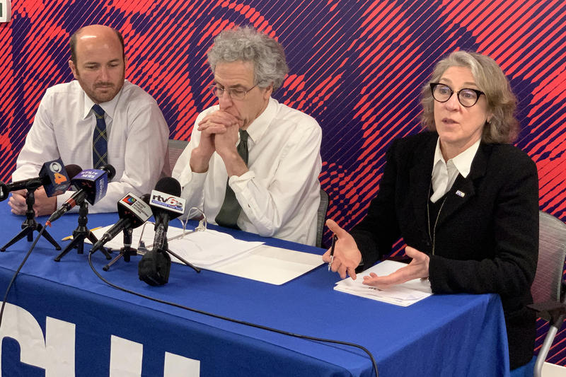 ACLU of Indiana leadership discusses their latest abortion lawsuit against the state. (Brandon Smith/IPB News)