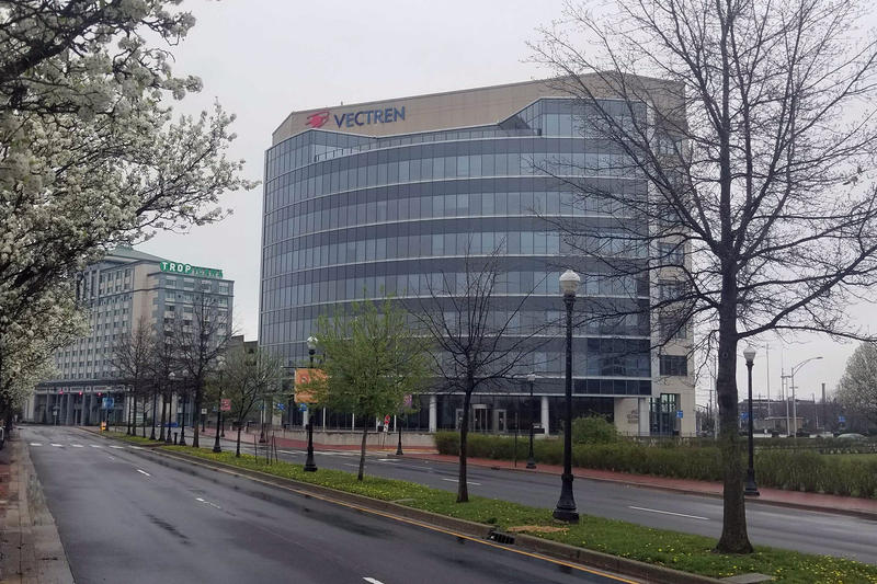 Vectren's headquarters in Evansville. (Samantha Horton/IPB News)