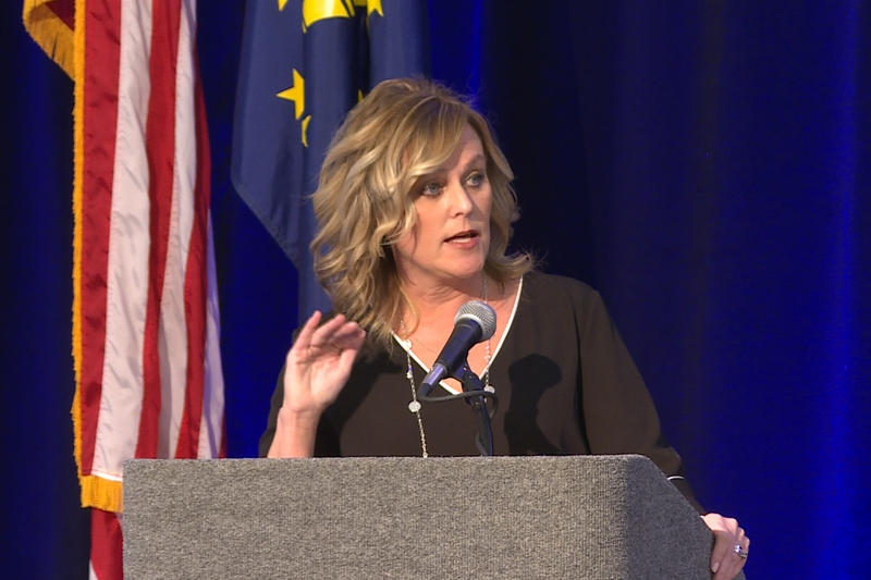 Jennifer McCormick is the head of the Indiana Department of Education as the last elected Superintendent of Public Instruction. (Jeanie Lindsay/IPB News)