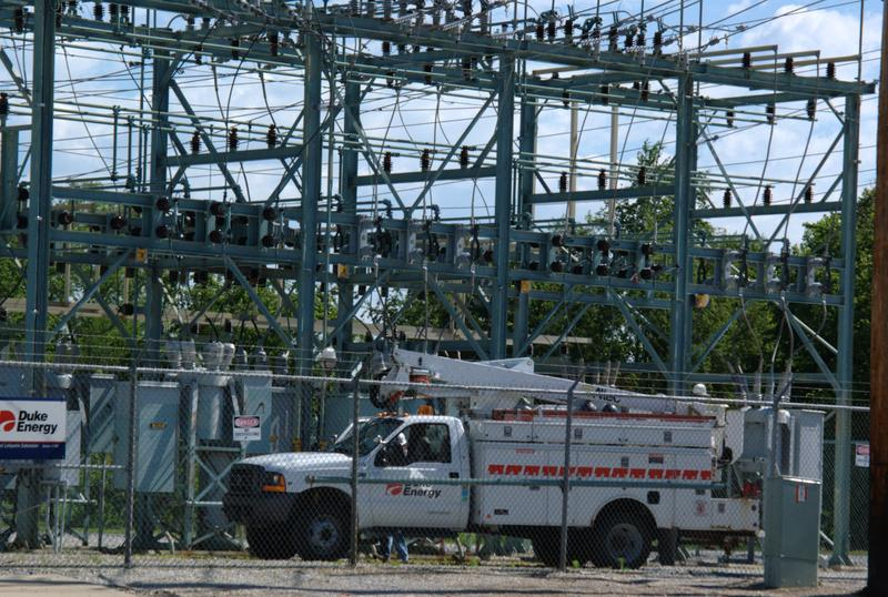 A Duke Energy substation in Lafayette, 2008. (Patrick Finnegan/Wikimedia Commons)