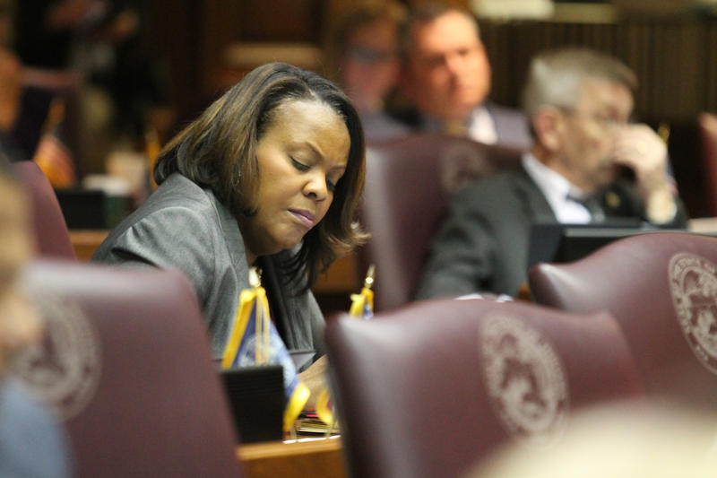 Indiana Black Legislative Caucus Chair Rep. Robin Shackleford (D-Indianapolis) says part of the 2019 town halls will focus on the importance of citizen advocacy. (Lauren Chapman/IPB News)