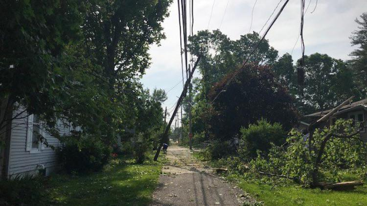 At least 75 homes were damaged in Pendleton after a tornado touched down Monday, May 28, 2019.