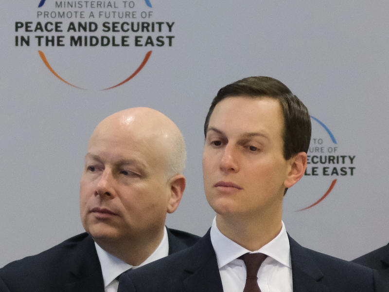 Jason Greenblatt and Jared Kushner attended a Middle East peace meeting in February in Warsaw, Poland.