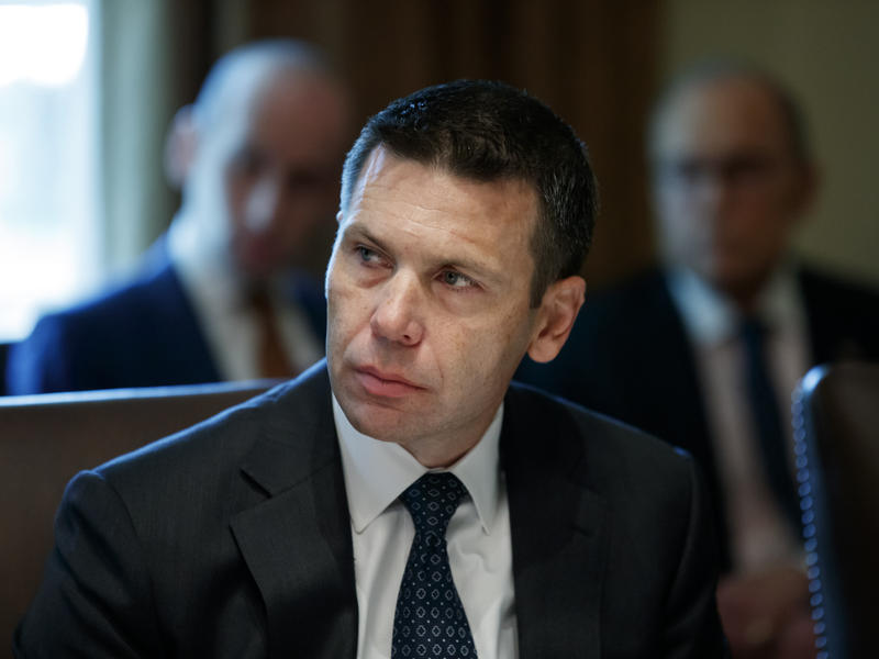 Acting Secretary of Homeland Security Kevin McAleenan, seen in the Cabinet room on Tuesday, is testifying before the House oversight committee on Thursday.