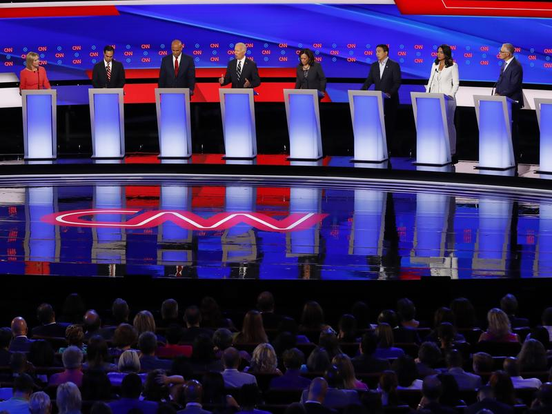 Democratic presidential candidates debated last month in Detroit.