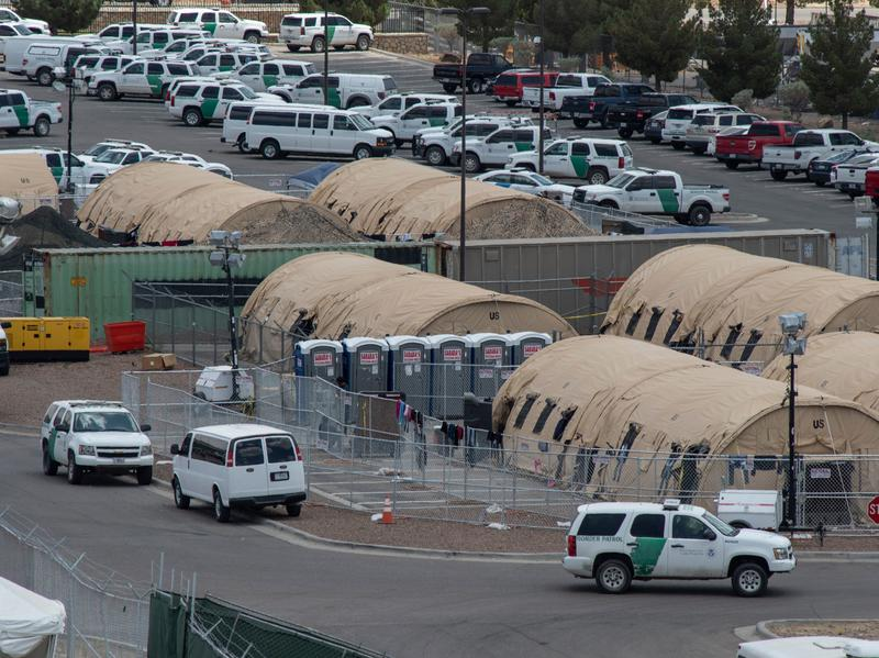 Tents at a temporary holding facility for migrants in El Paso, earlier this year. Under President Trump, the Department of Homeland Security focus has shifted increasingly towards immigration and border enforcement.