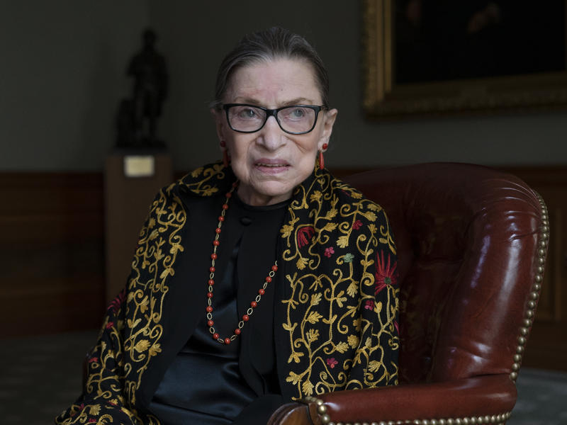 Supreme Court Justice Ruth Bader Ginsburg speaks with NPR in July.