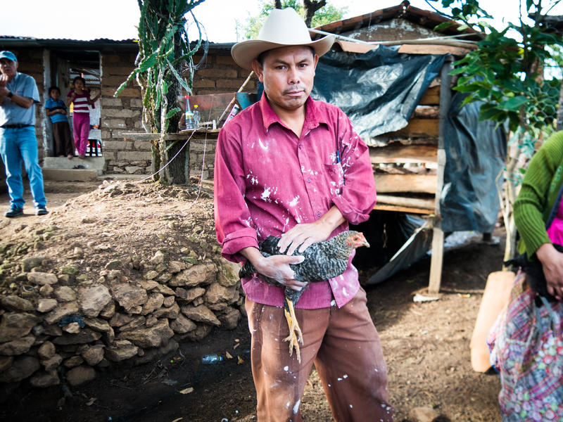 Eulalio Barrera Barrera's family was one of 6,000 to receive a monthly stipend funded by USAID that was cut off last month because of President Donald Trump's foreign aid funding freeze. Like many families in the program, he spent the last cash on chicken