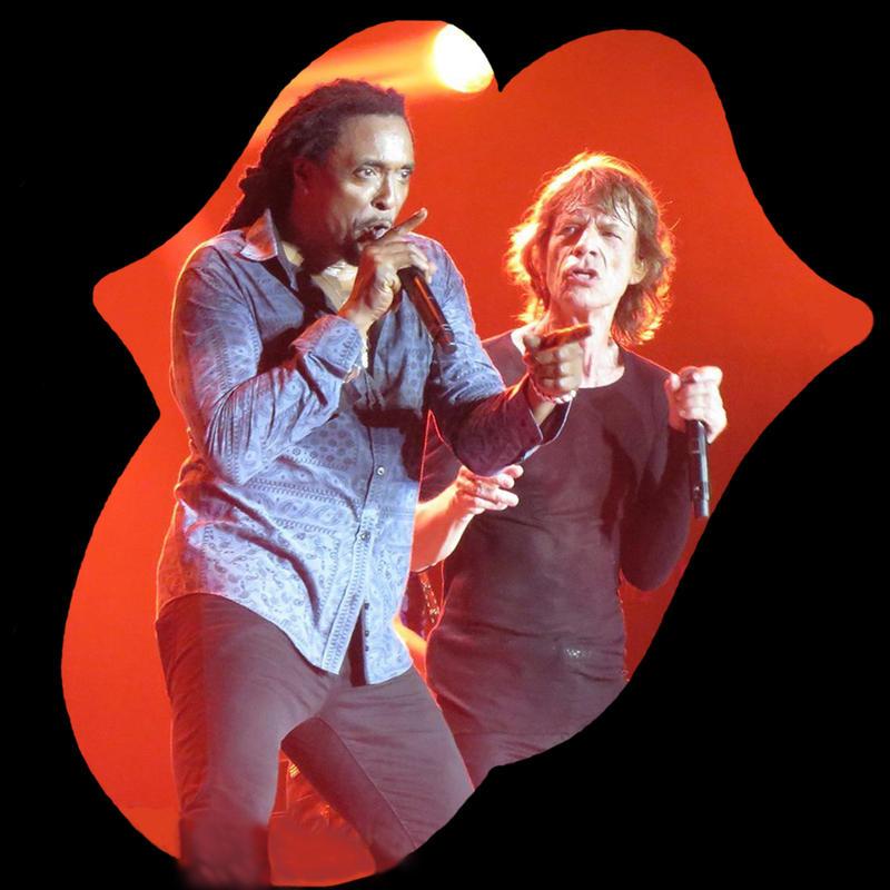 Bernard Fowler and Mick Jagger