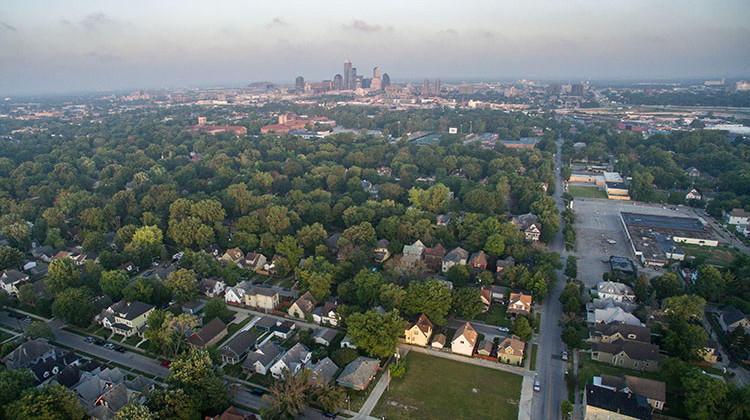 Analysis by the Indiana University Center for Research on Inclusion and Social Policy found that the median home value in majority black neighborhoods is $41,000 less than the average in Marion County.