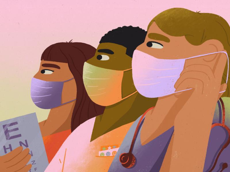 School nurses confront the coronavirus.