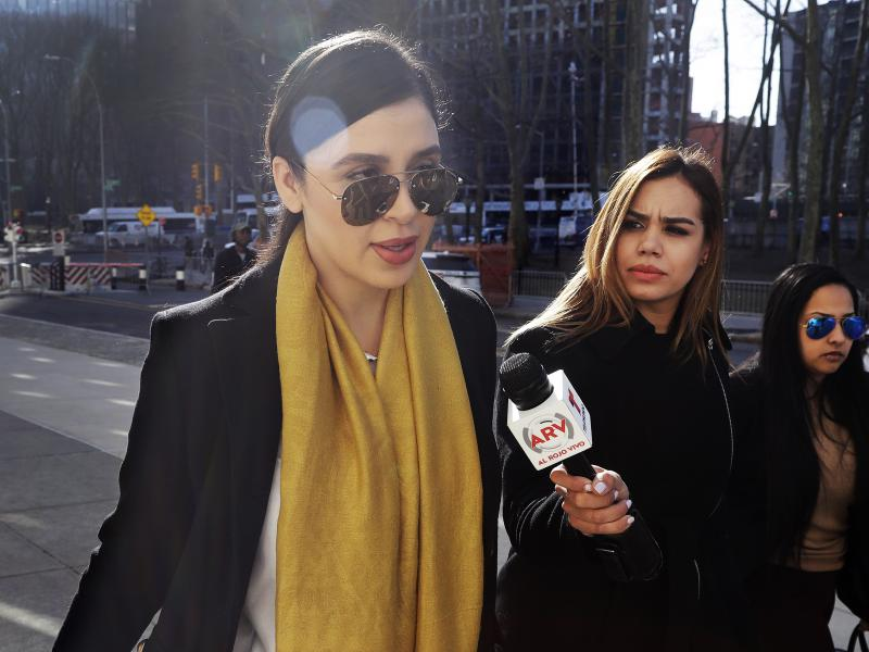 """Emma Coronel Aispuro (far left), wife of Joaquín """"El Chapo"""" Guzmán, is facing several charges for her alleged involvement in the Sinaloa Cartel's drug trafficking as her husband sits in a U.S. prison."""