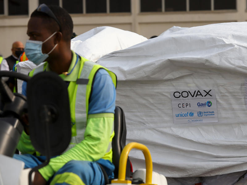 A shipment of COVID-19 vaccines from the COVAX global program arrived at the Kotoka International Airport in Accra on Wednesday, as Ghana received the group's first vaccine shipment.