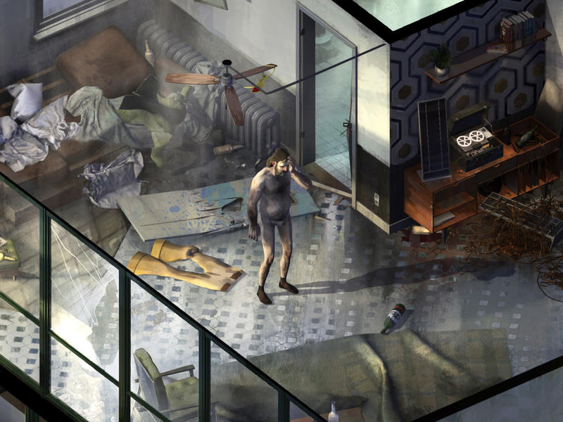 At the start of <em>Disco Elysium</em>, you wake up in a crummy hostel room, without your memories — and without your pants.