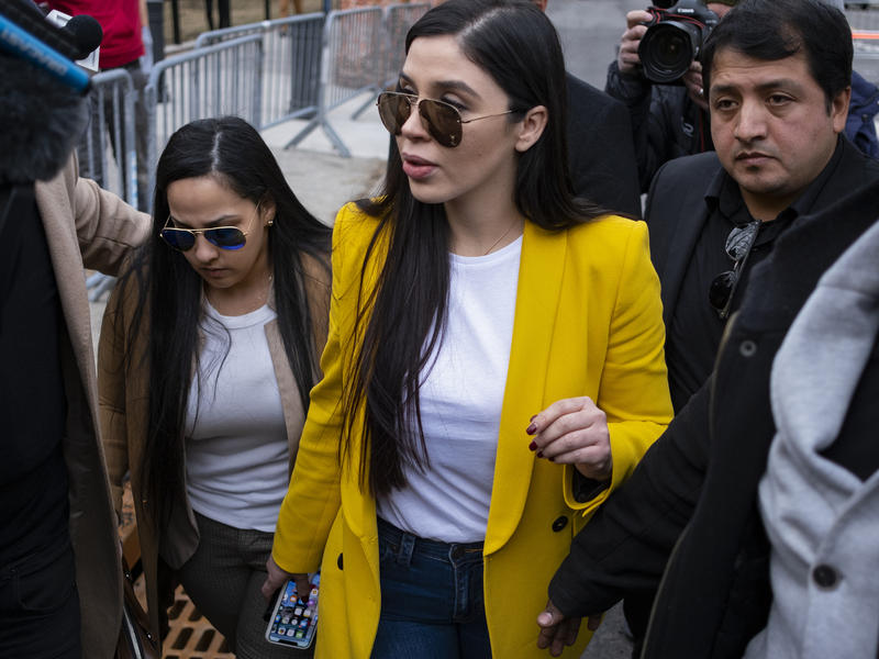 Court documents state that Emma Coronel Aispuro (center) controlled a vast fortune earned from the sale of multi-ton cocaine, heroin and marijuana shipments.
