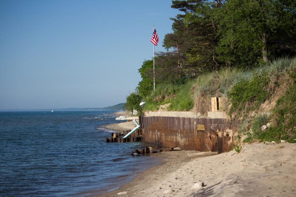 Erosion In Long Beach Along Lake Michigan Lbca Attorney Pat Sharkey Says