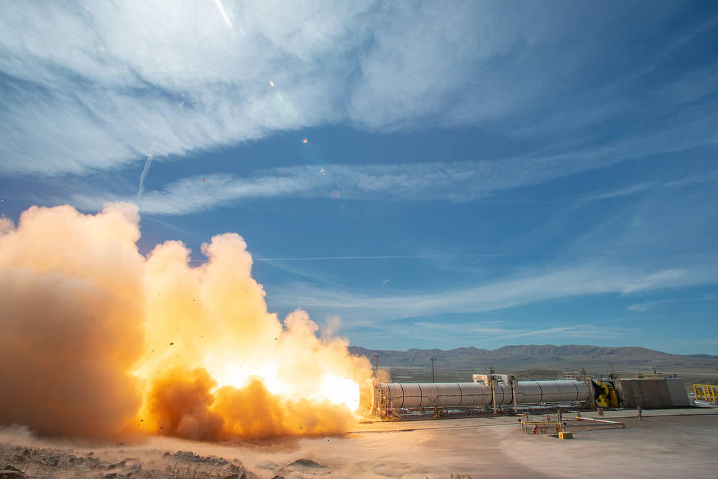 Booster rocket for Nasa Moon missions given critical test