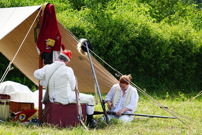 Hanging Out, Camping Out — With Muskets!': Reenacting The
