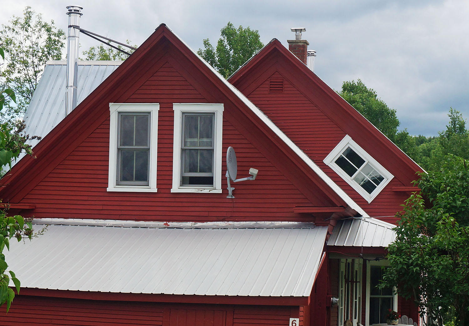 What S The Story Behind Those Angled Upstairs Windows On Some Vermont Farmhouses