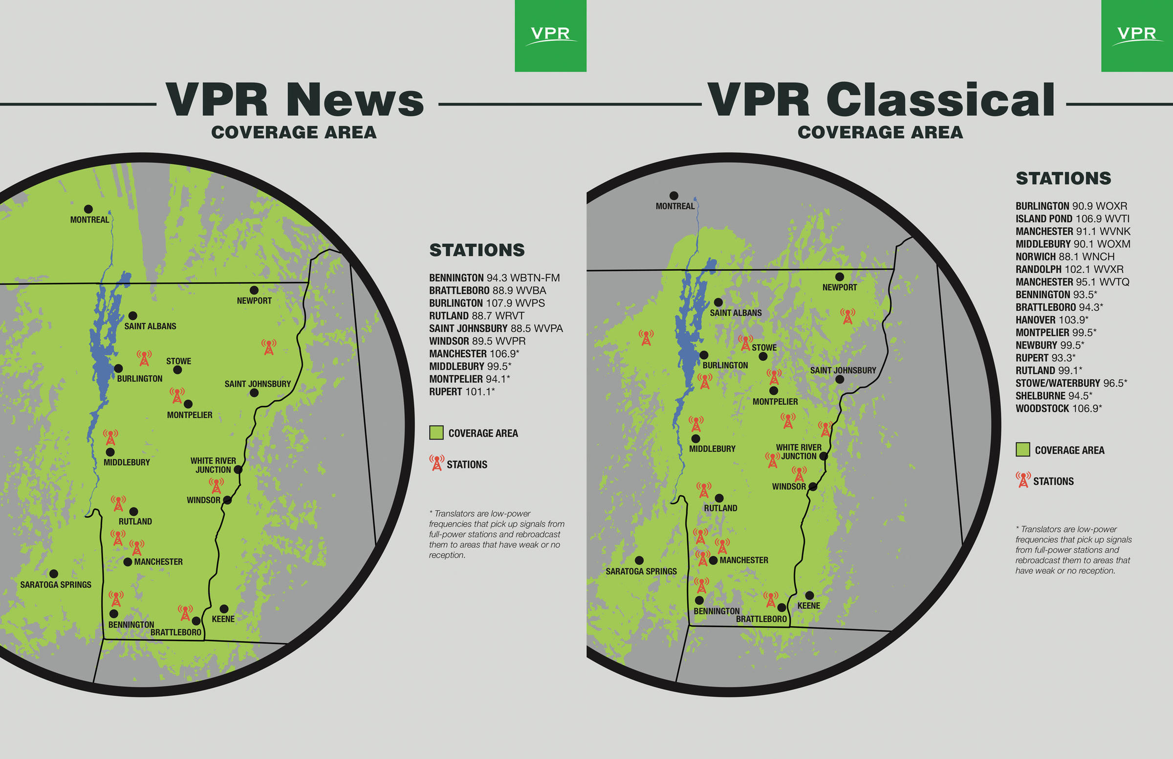 Radio Stations & Coverage Maps | Vermont Public Radio