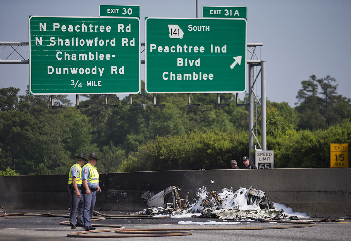 NTSB Releases First Report On I-285 Plane Crash | WABE 90 1 FM