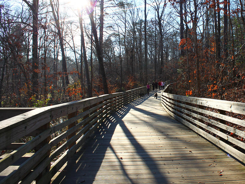 The South Peachtree Creek Trail is part boardwalk, part pavement