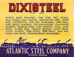 Atlantic Steel matchbook cover