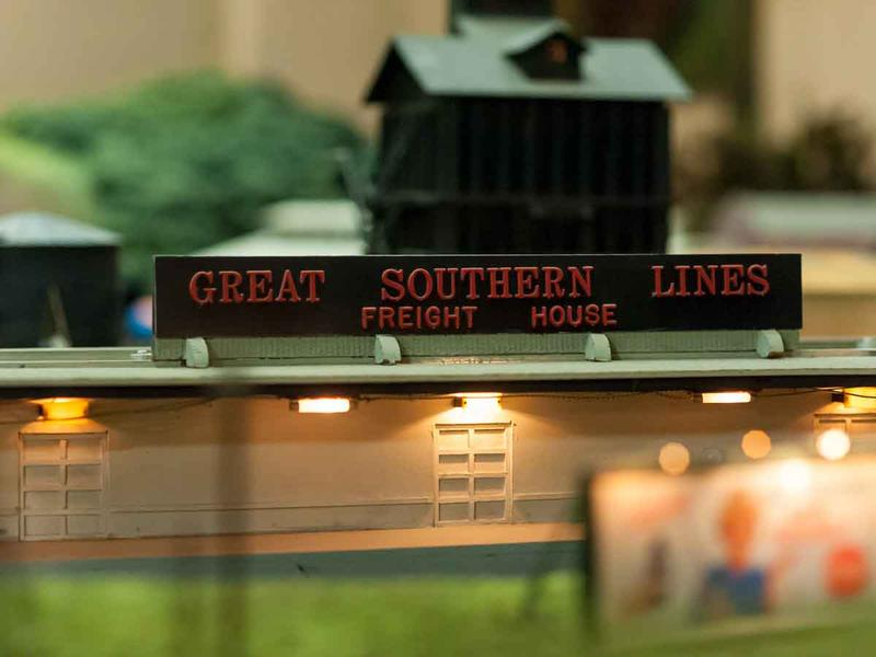 The world of the train set-up is sprawling, covering six fictional cities.