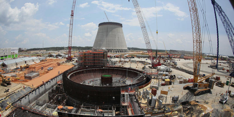 In this June 13, 2014, file photo, construction continues on a new nuclear reactor at Plant Vogtle power plant in Waynesboro, Georgia. An analyst for the Public Service Commission, Steven Roetger, said the timeline for finishing two nuclear reactors at Pl