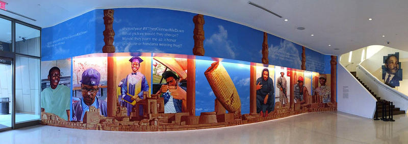 Gaia's #ifTheyGunnedMeDown mural at the National Center for Civil and Human Rights in Atlanta.