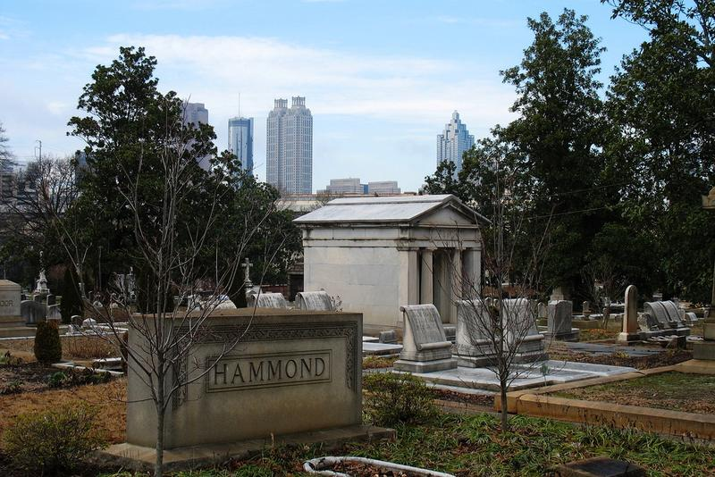 Historic Oakland Cemetery and Atlanta Skyline