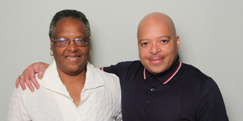 June Nutter and her son Gerald Coleman interviewed each other in the StoryCorps Atlanta booth.