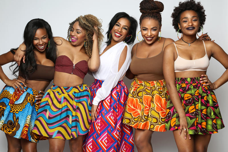 The Bombchel Factory produces contemporary West African garments for women who love to be comfortable and stylish, founder Archel Bernard, second from right, says.