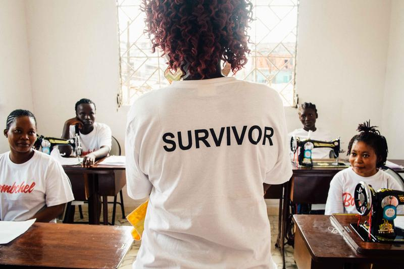 Trainees and employees at The Bombchel Factory wear shirts that say ''survivor'' on the back and ''Bombchel'' on the front.