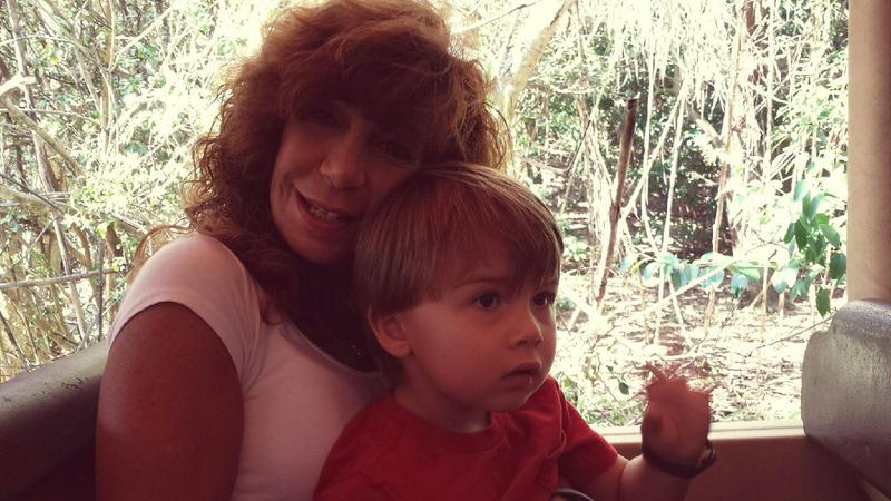 Alda Gentile with her grandson. Law enforcement in Georgia seized Gentile's cash, even though they didn't charge her with a crime.
