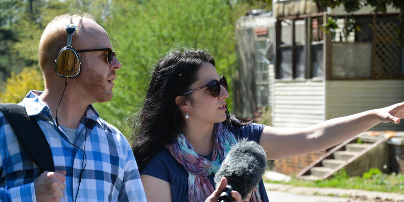 Closer Look co-host Jim Burress and DeKalb County Commissioner Nancy Jester tour Brannon Hill Condominiums.