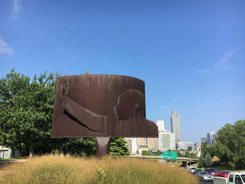 Olympic public artwork ''Homage to King'' has become an iconic Atlanta structure.