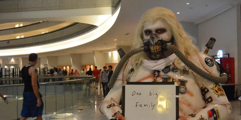 Jakey Philips came to Dragon Con as Immortan Joe from the film ''Mad Max: Fury Road.'' He said his favorite part of Dragon Con is its welcoming, family-like culture.