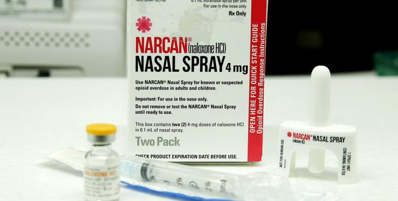 Injectable and nasal forms of Naloxone, which can be used to block the potentially fatal effects of an opioid overdose, are shown Friday, Oct. 7, 2016, at an outpatient pharmacy at the University of Washington.