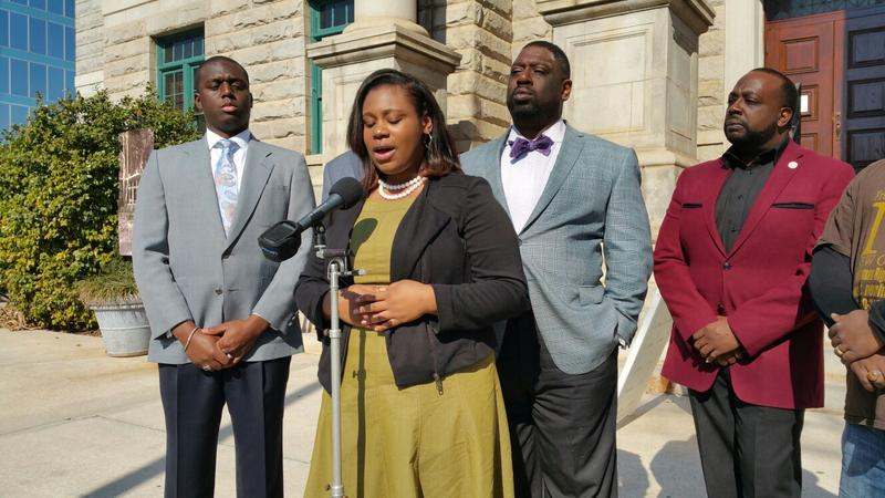 Mary-Pat Hector held a press conference Thursday about potentially being disqualified a month into her campaign. She is 19 years old and a student at Spelman College.