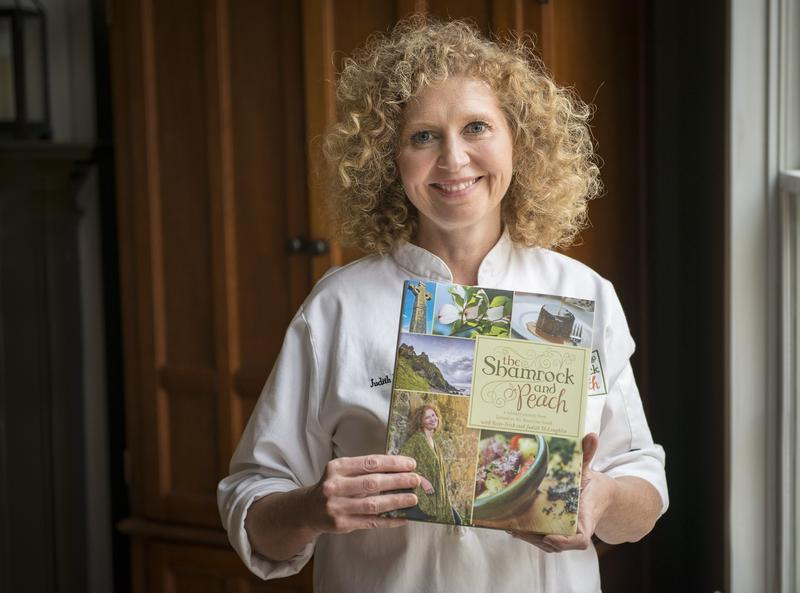 """Judith McLoughlin is an Irish immigrant and chef who has found a home in the deep South. She's also the author of a food blog and cookbook called """"The Shamrock and Peach."""""""