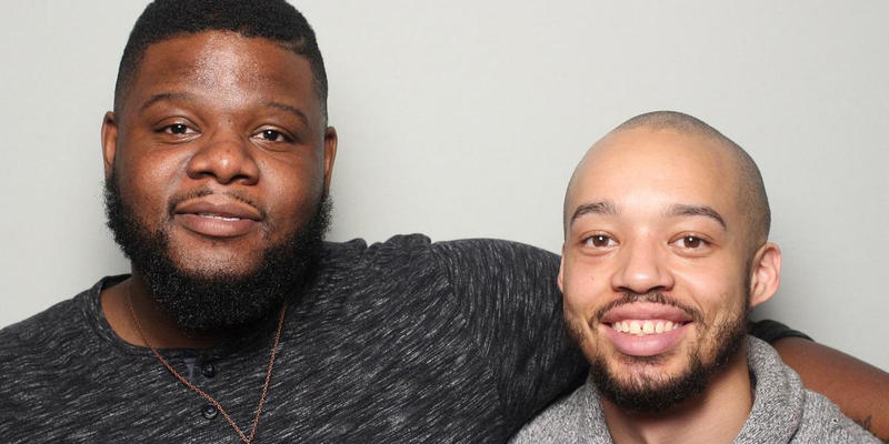 Boyfriends Shawn Moore and Daniel Edwards talked to eachother in the StoryCorps Atlanta booth.