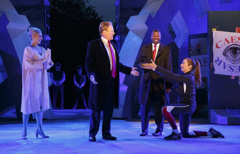 In a statement, Delta Air Lines said it is pulling its sponsorship of New York's Public Theater for portraying Julius Caesar as a Donald Trump look-alike in a business suit who gets knifed to death on stage.